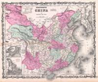 Vintage Map of China (1862)