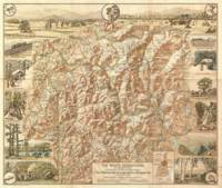 Vintage Map of The White Mountains (1937)