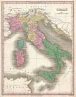 Vintage Map of Italy (1827)