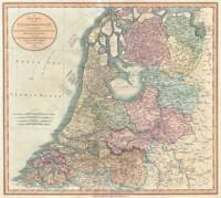Vintage Map of The Netherlands (1799)