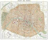 Vintage Map of Paris France (1892)