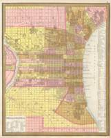Vintage Map of Philadelphia Pennsylvania (1846)