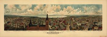 Vintage Map of Milwaukee Wisconsin (1898)