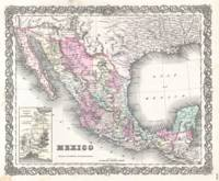 Vintage Map of Mexico (1855)