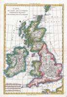 Vintage Map of The British Isles (1780)