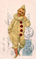 Vintage Clown Postcard Collage