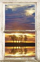 Sunrise Encounter White Picture Window Frame View