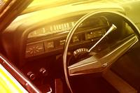 Vintage Ford dashboard