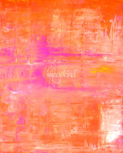 Pink and Orange Abstract Art Painting