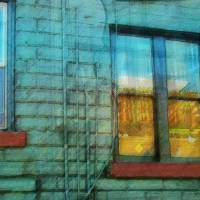 Music Shop Back Window Three by Faye Cummings