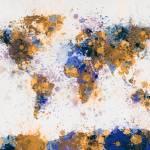 """""""World Map Paint Splashes"""" by ModernArtPrints"""