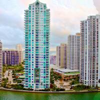 Brickell Key Cityscape Art Prints & Posters by Terry Neves