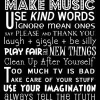 Playroom Rules Art Prints & Posters by Jaime Friedman