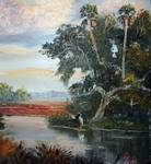 Florida Birds on Dead Tree by Mazz Original Paintings
