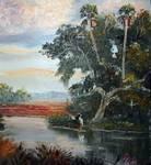 Florida Birds on Dead Tree by Mazz Original Paintings