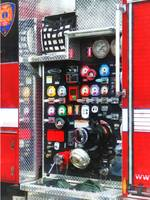 Colorful Gauges on Fire Truck