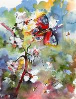 Butterfly Flutter By Watercolor by Ginette Callaway