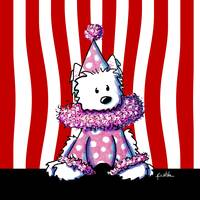 Circus Clown Westie In Pink