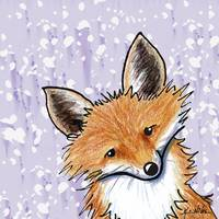 Fox On Lavender