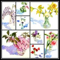 Spring Flowers Collage I