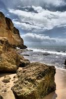portugal beach and rock