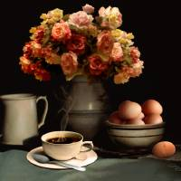 Coffee And Eggs Art Prints & Posters by D Schellack