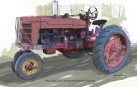 Old Red Farmall Tractor