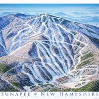 """Sunapee New Hampshire"" by jamesniehuesmaps"