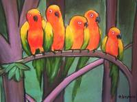 parrots -kool and the gang. by tracie brown
