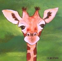 giraffe - baby animals - george by tracie brown