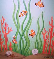 coral reef - clown fish quartet by tracie brown