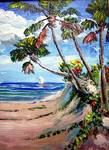 Walk to the Beach by Mazz Original Paintings