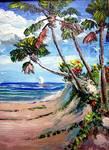 Walk to the Beach by Mazz Original Paintings