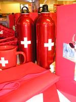 Red Bottle with Swiss Flag