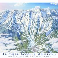 """Bridger Bowl Montana"" by jamesniehuesmaps"