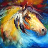 BLUE THUNDER INDIAN WAR PONY by Marcia Baldwin