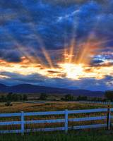 Rocky Mountain Country Beams Of Sunlight Portrait