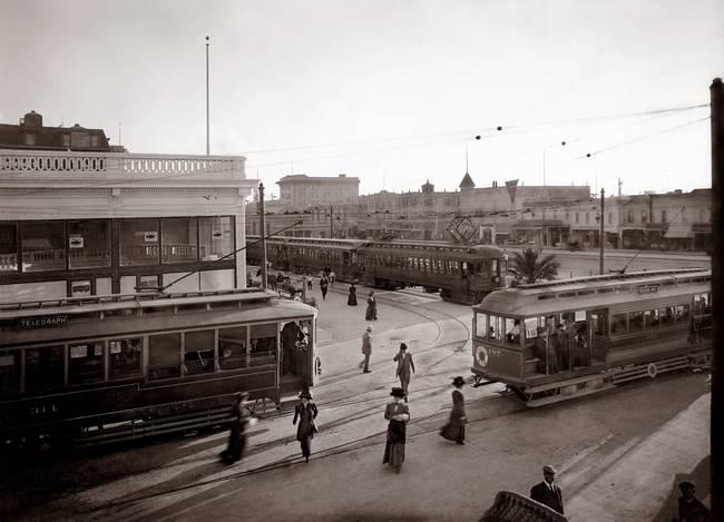 Shattuck and Euclid, Berkeley,  c1910