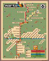 Atlanta MARTA Map - Super Mario 3 Style
