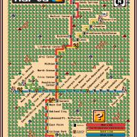 """Atlanta MARTA Map - Super Mario 3 Style"" by originaldave77"
