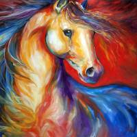RED STALLION II by Marcia Baldwin