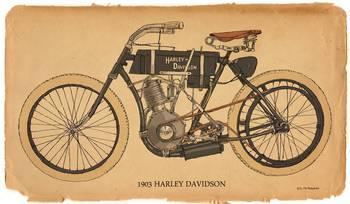 1903 Harley Davidson By Rg Mcmahon