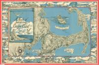 Vintage Map of Cape Cod (1945)