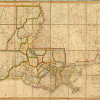 """""""Vintage Map of Louisiana (1816)"""" by Alleycatshirts"""