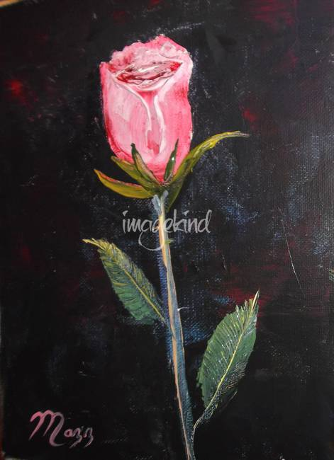 Single Stem Rose Painting