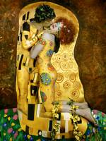 Gustav Klimt The Kiss photography