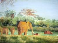Elephants and Buffalo
