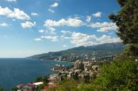 Sunny view of Yalta from Massandra Park