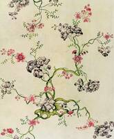 Silk design by Anna Maria Garthwaite, 1740