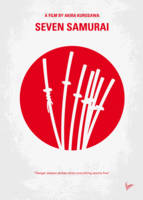 No200 My The Seven Samurai minimal movie poster